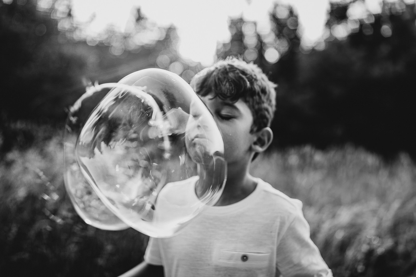 Foto con le bolle